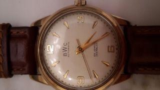 14k Automatic Echtgolduhr Von Bwc Armbanduhr Gold Schweiz Bild