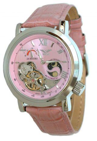 Minoir Uhren - Modell Premiere Rosé - Damenuhr - Automatikuhr,  40 Mm Bild