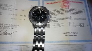 Ventura V - Matic Chronograph Stahl Massiver Sportler Selten Bild