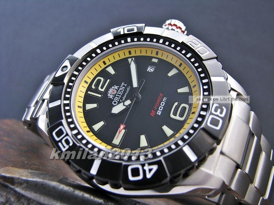 Orient Uhr M - Force Titanium Automatik Herrenuhr Japan,  Wr: 200 M Sdv01002b0 Armbanduhren Bild
