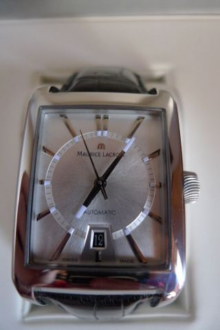 Maurice Lacroix Pontos Rectangulaire Armbanduhr Für Herren (pt6247 - Ss001 - 130) Bild