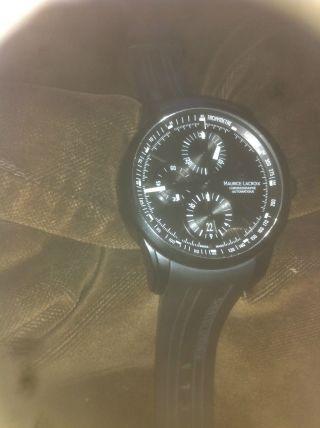 Chronograph Mit Automatikwerk Von Maurice Lacroix Pontos Full Black Kal.  M 112 Bild