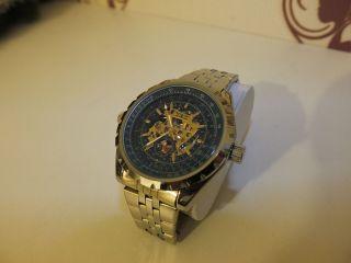 Jaragar Uhr Poliertes Edelstahl Armband Top Bild