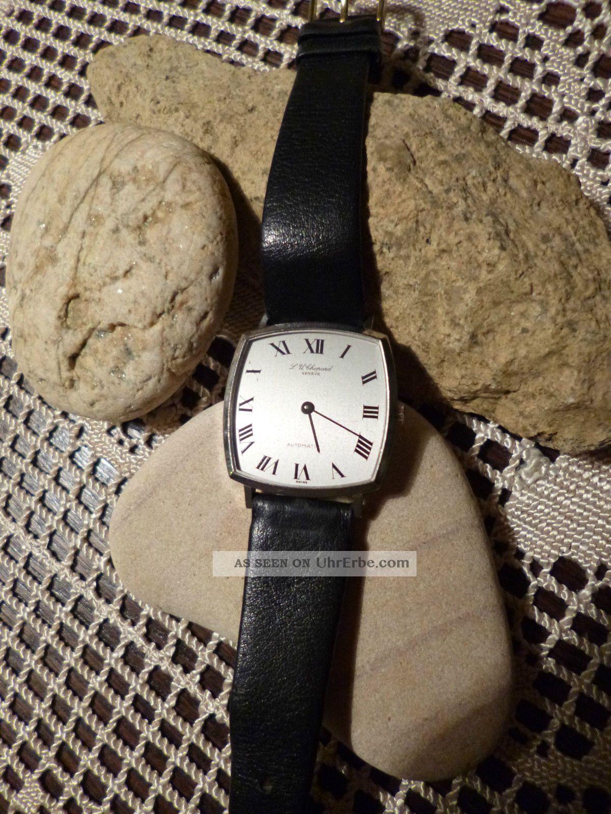 750er Weißgold Hau Chopard Mechanisch/automatic Superflach Armbanduhren Bild