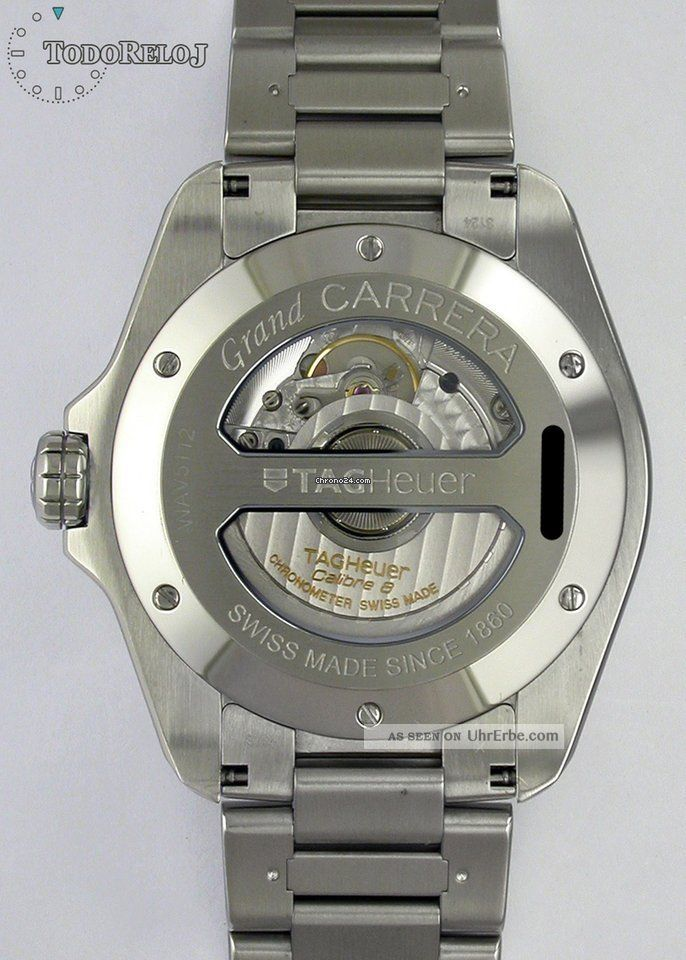 Tag Heuer Grand Carrera Gmt Calibre 8 Chronometer Mit Box Und Papieren Armbanduhren Bild