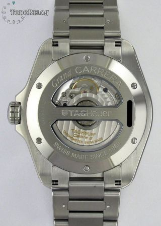 Tag Heuer Grand Carrera Gmt Calibre 8 Chronometer Mit Box Und Papieren Bild