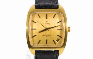 Zenith Respirator X Vergoldete Schweizer Herren Armbanduhr Cal.  2562pc 70 ' Er Bild