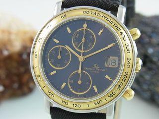 Baume & Mercier Baumatic Chronograph Automatik Saphir Glas Stahl / Gold 6105.  018 Bild