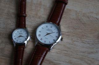 Elegante Armbanduhren Für Partner (herren,  Damen) Royal Spencer Ovp Bild
