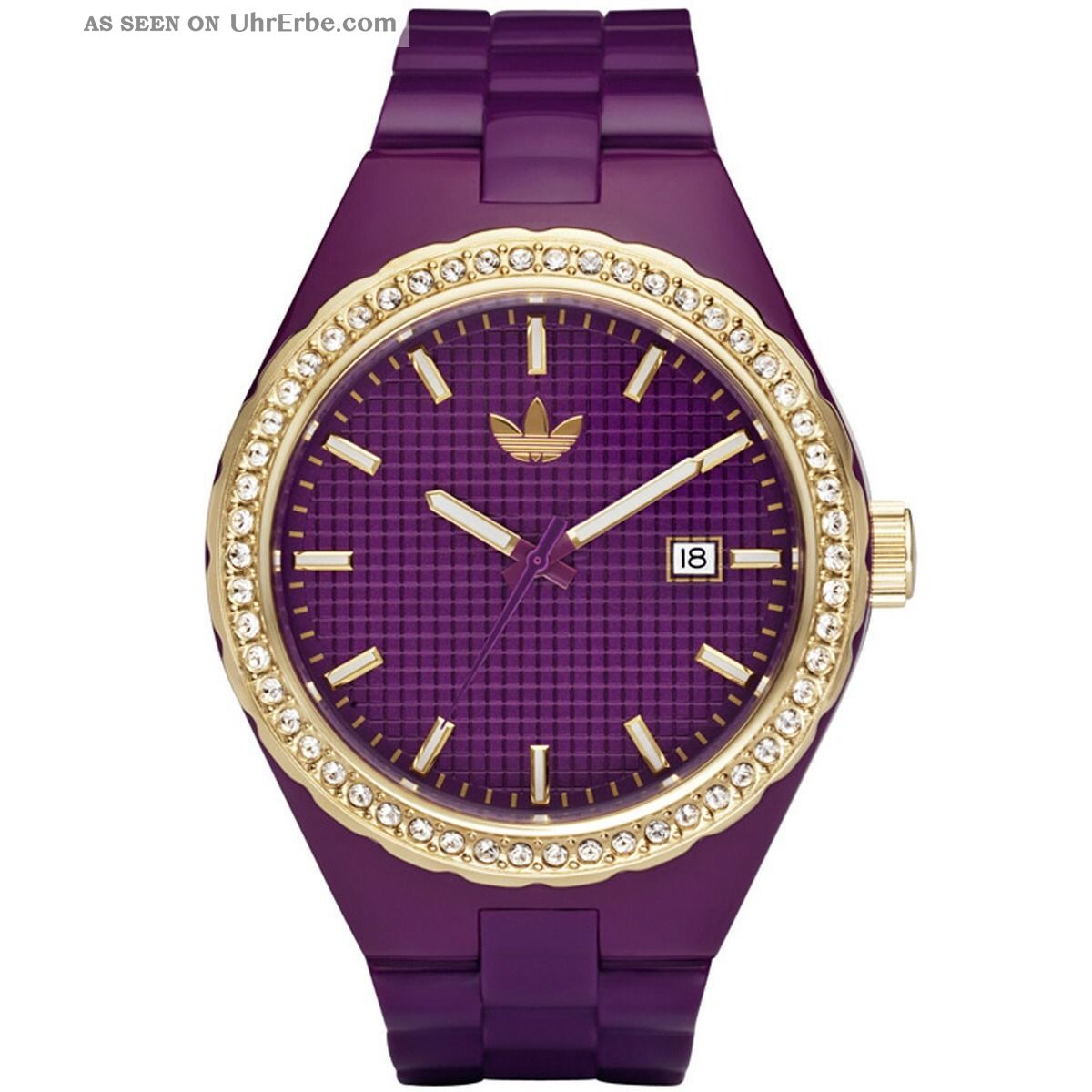 Adidas Damenuhr In Lila/gold Und Strass.  Wie ❤️ Vintage Blogger❤️ Armbanduhren Bild