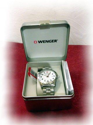 @@@ Wenger Uhr Swiss Made Herrenuhr Grenadier 20074112 Edelstahlband @@@ Bild