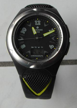 Junghans Mega Carbon 2 Modell 51/2204 Mit Nagelneuer Markenbatterie Top,  Selten Bild
