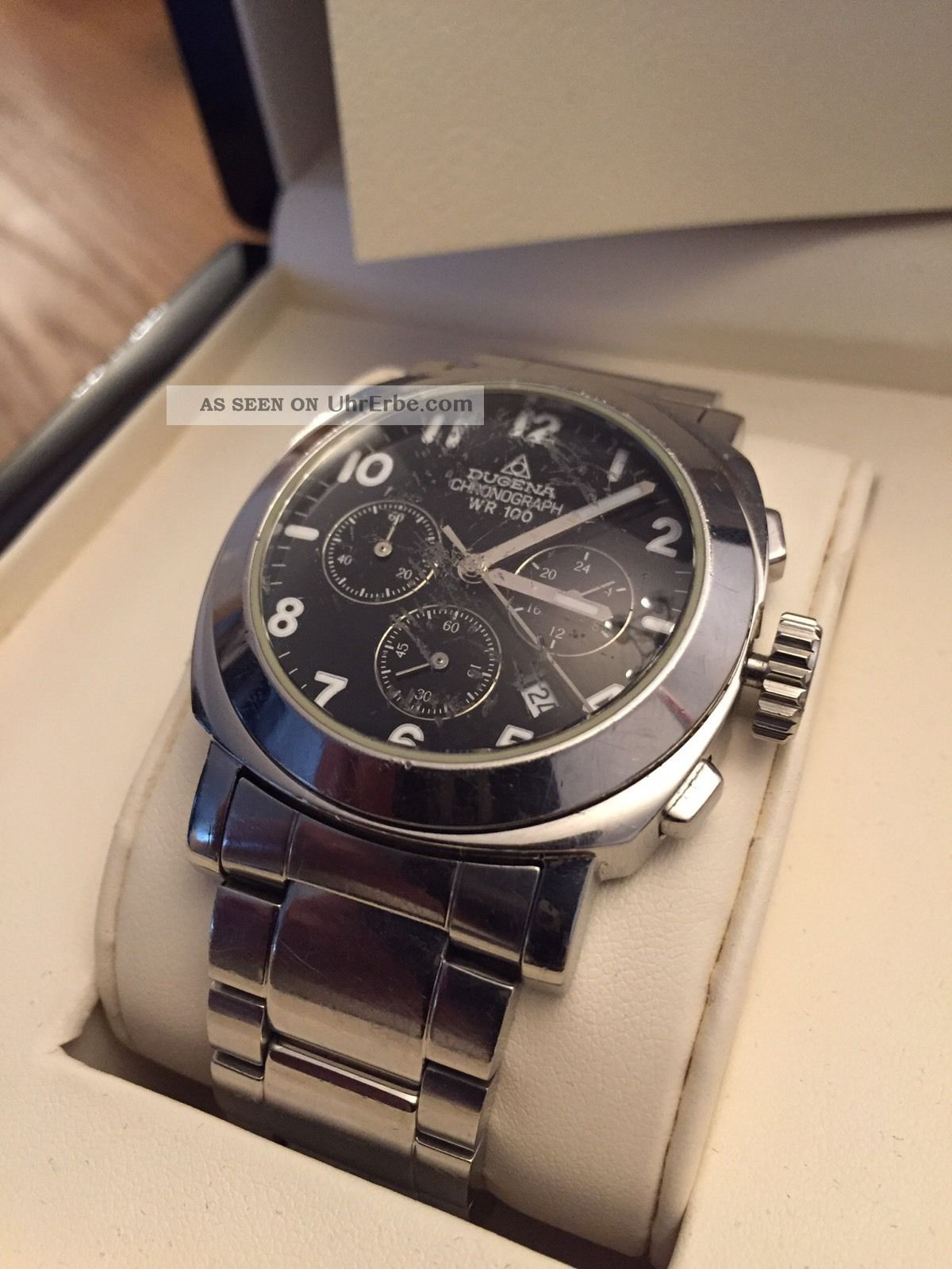 Dugena Chronograph Wr100 Militare,  40mm,  Edelstahl Armbanduhren Bild