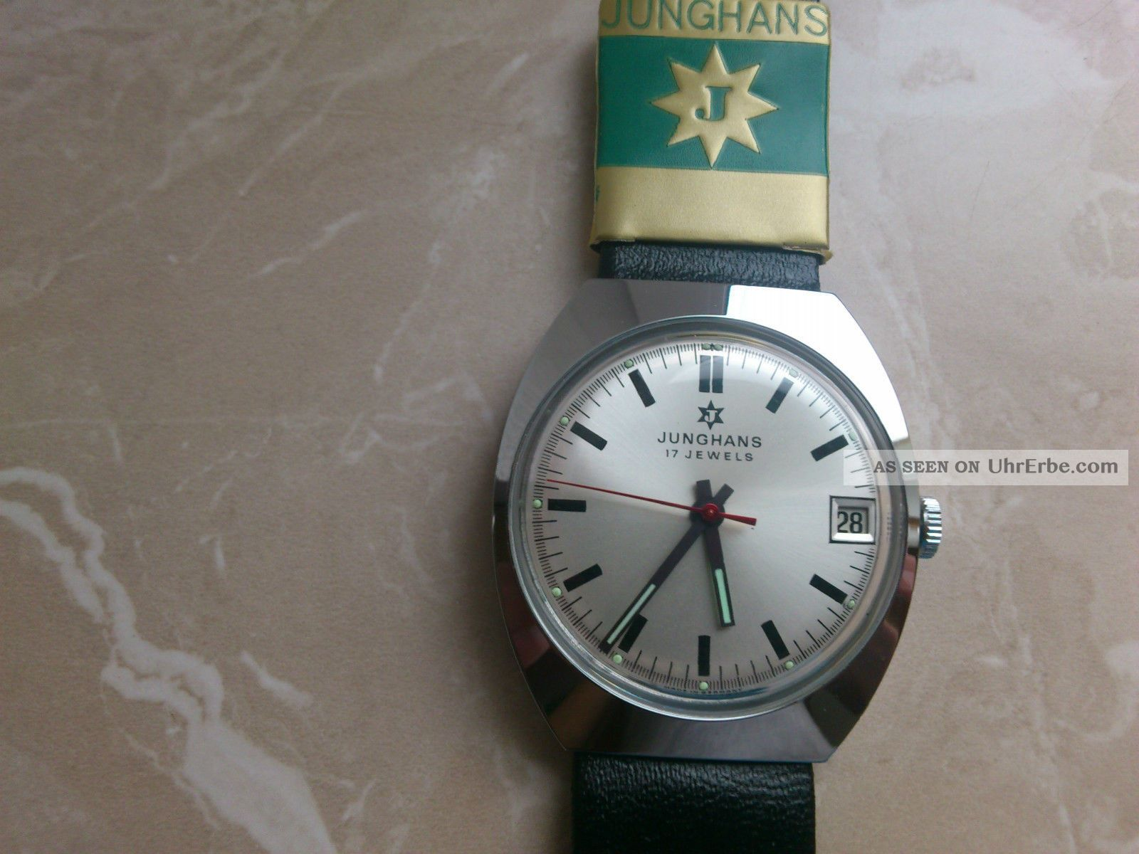 Herrenuhr Junghans Handaufzug Nos (aus Altem Lagerbestand) M.  A.  N. Armbanduhren Bild