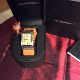 Armani Uhr Damen Damenuhr Armbanduhr Leder In Ovp Bild