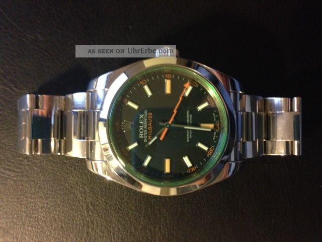 Rolex Milgauss 116400 Gv (noch Gut Erhalten) Armbanduhren Bild