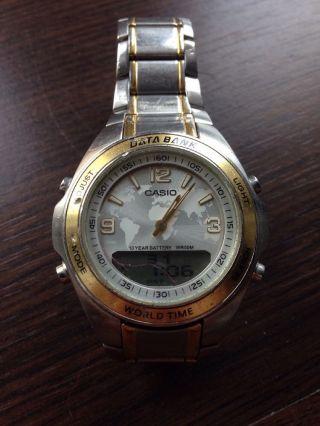 Casio Data Bank Wr50m Dbw - 30 2747 Herren Armbanduhr Uhr Bild