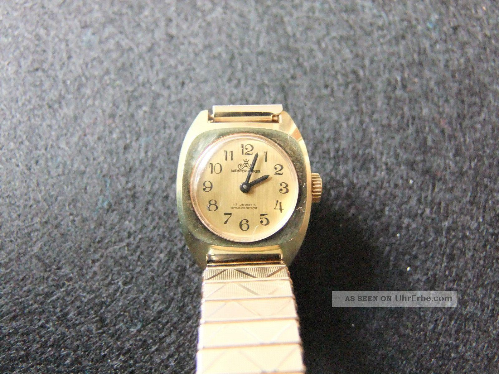 Meister - Anker Damenuhr Glashütte Werk Vintage Armbanduhren Bild