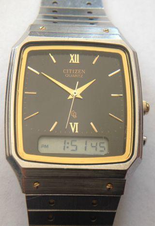 Citizen 8930 - 082885y Analog Digital Armbanduhr Uhr Rar Selten Chronograph Alarm Bild