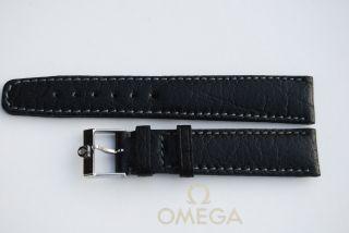 Omega Lederband Schwarz 18mm Armband/bracelet Leder 7 Bild