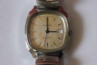 Herren - Armbanduhr,  Ruhla Ddr Quarz Batterie Bild