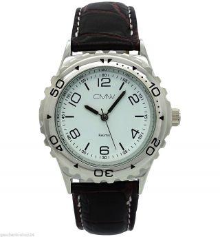 Herren Mechanisch Edelstahl Automatik Leder Armband Uhr Sonderposten Ar.  1 Bild