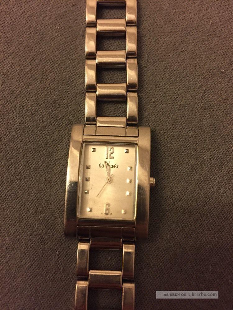 S.  Oliver Soliver Armbanduhr Uhr Silber Steel Damenuhr Damen Armbanduhren Bild