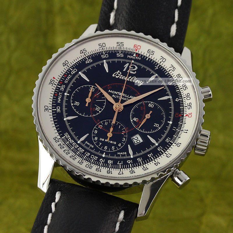 Breitling Navitimer Montbrillant Chronograph Automatik Stahl A41370 Vp: 6310,  - E Armbanduhren Bild