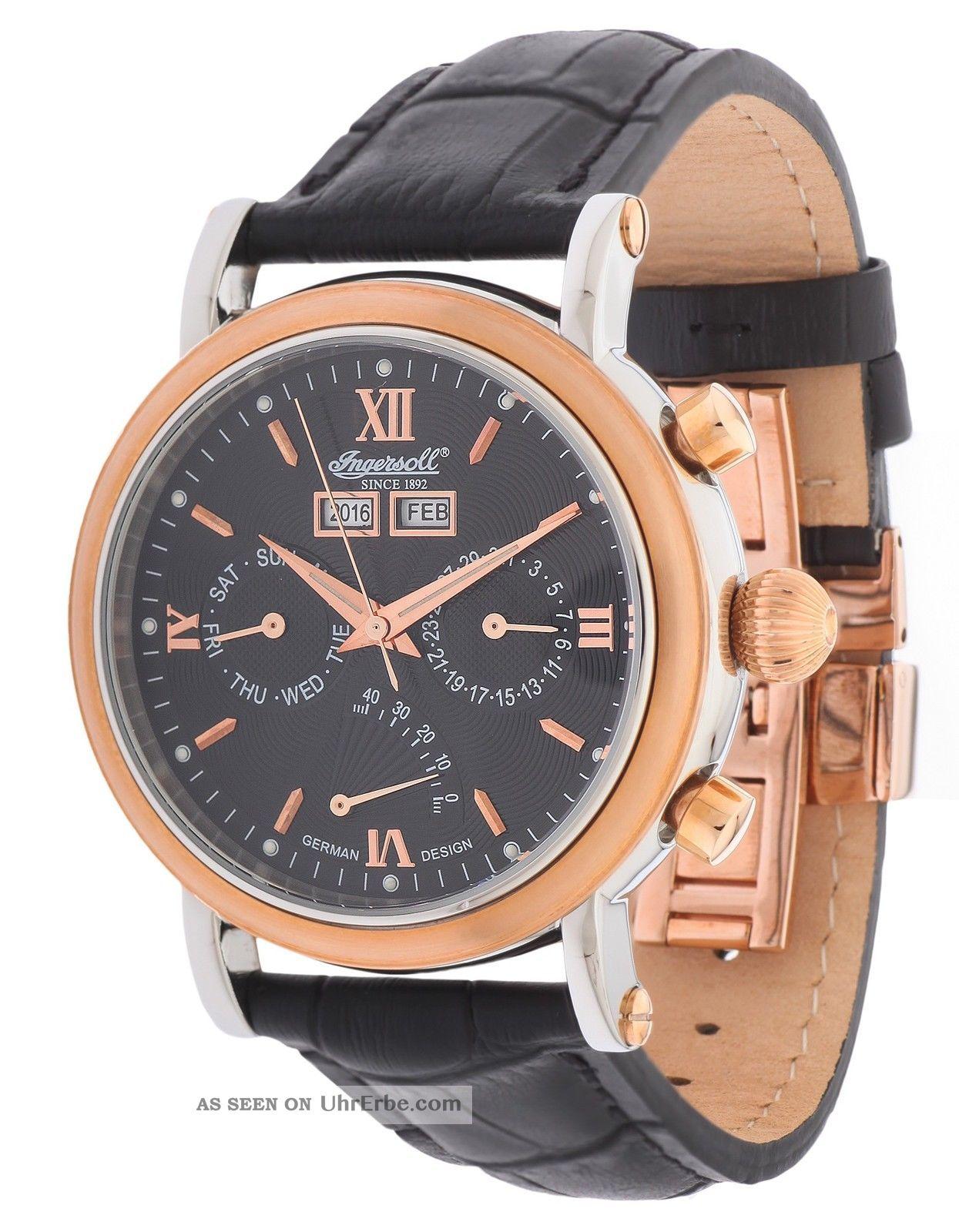 Ingersoll Herren Automatik Uhr Cila Schwarz In4502rbk Armbanduhren Bild