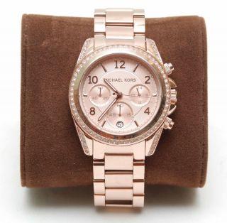 Michael Kors Mk5263 Damen - Armbanduhr Chronograph Quarz - Rosegold - Bild