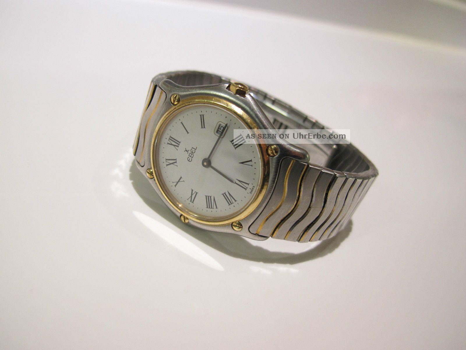 Ebel Classic Wave Gold Stahl Armbanduhr 184909 Medium Damen Armbanduhren Bild