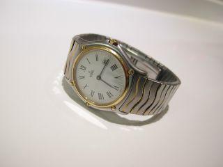 Ebel Classic Wave Gold Stahl Armbanduhr 184909 Medium Damen Bild