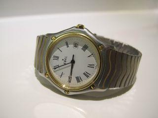 Ebel Classic Wave Gold Stahl Armbanduhr 183909 Medium Damen Bild