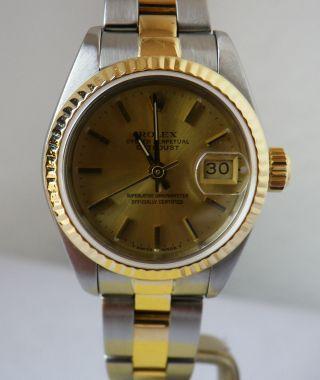 Rolex Lady Datejust Stahl/18k/750 Gg,  Ref 69173,  Ca 1985,  Topp,  Revision Bild