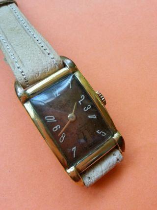 Alte Lusina Handaufzug Uhr / Swiss Made Bild
