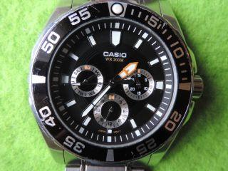 Casio Wr 200m Chronograph 20 Bar Taucher Uhr Bild