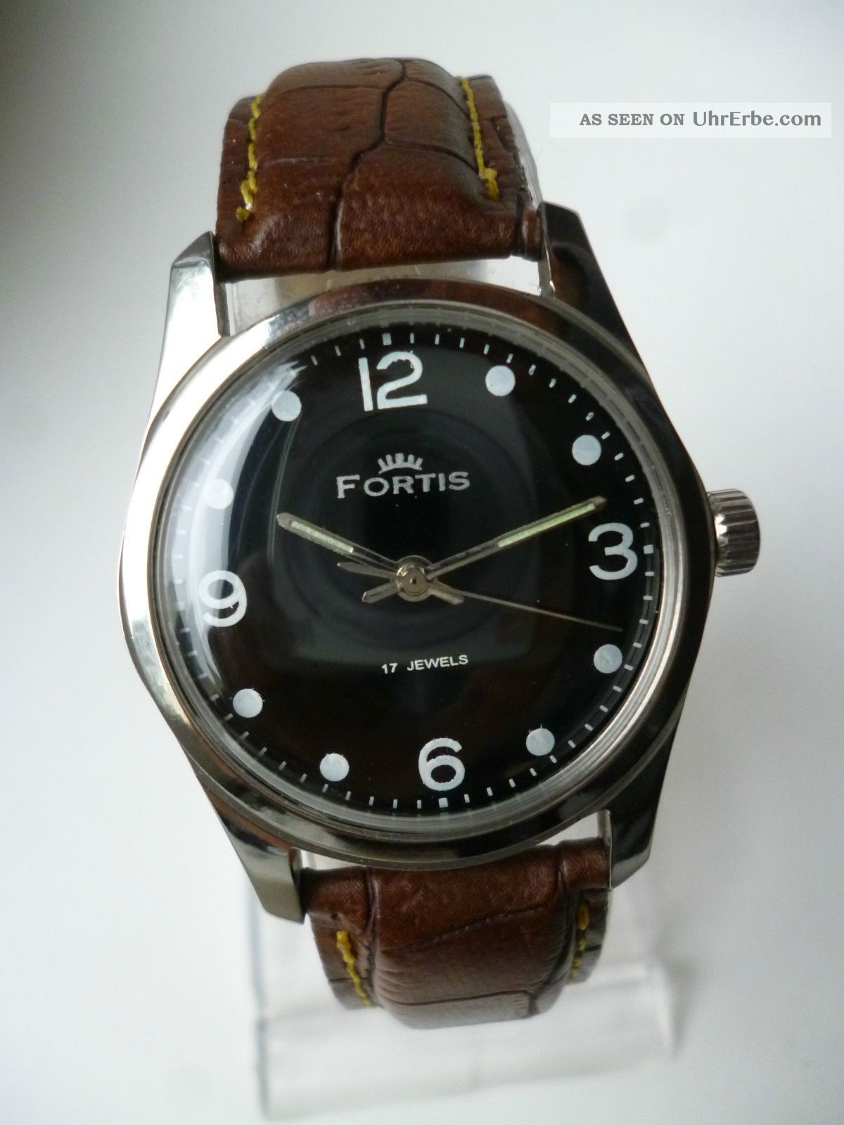 Rare Fortis Military Black Eye Handaufzug,  Vintage,  Top,  Sehr Schön Armbanduhren Bild