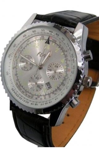 Herrenuhr Mit Datum Armbanduhren Herrenuhren Chronographen Look Watch Bild