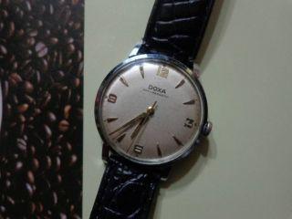 Doxa 17 Jewels Edelstahl Herren Armbanduhr,  Handaufzug. Bild