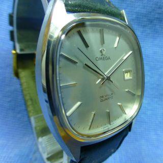 Vintage Top Omega De Ville Stahl 70èr Jahre Quarz Armbanduhr Herrenuhr Bild