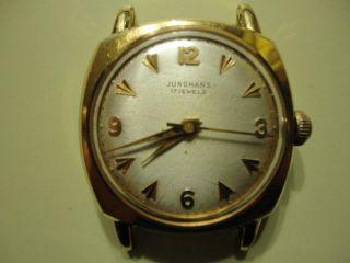 Junghans 17 Jewels Vergoldete Herren Armbanduhr. Bild