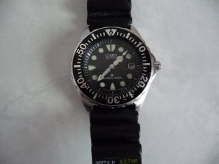 Citizien Eco Drive Promaster Herren Model Chronograph Taucher Uhr Reparabel Bild