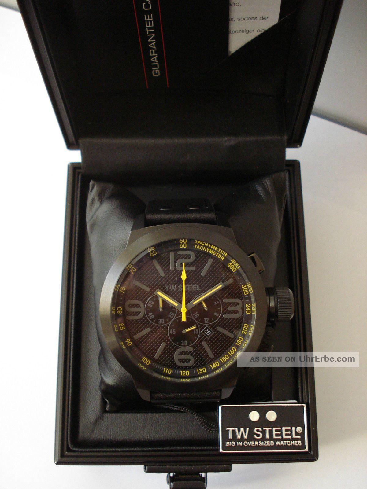 Tw Steel Tw - 901 Chronograph Herren Uhr 10 Atm Mit Etikett Armbanduhren Bild