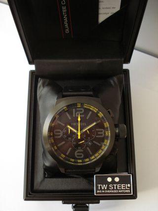 Tw Steel Tw - 901 Chronograph Herren Uhr 10 Atm Mit Etikett Bild
