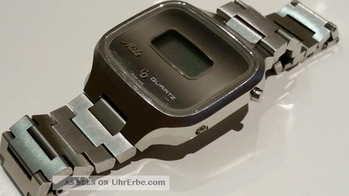 Mido Cd Quartz Herrenuhr 70er Vintage Stahl Armbanduhren Bild