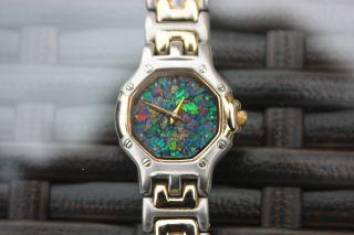 Pierre Cardin Uhr Damenuhr Sapphire Glass - Australian Opal Watch Paris Design Bild