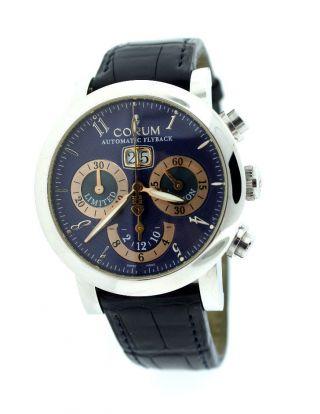 Armbanduhr Corum Limitierte Ausgabe Chronometer Schweiz Flyback Automatik Leder Bild