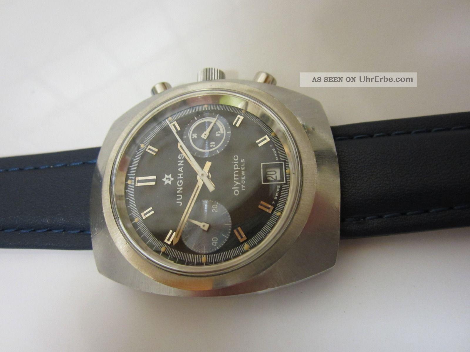 Junghans Olympic Chronograph - Cal 7734 - Handaufzug Topzustand Selten Armbanduhren Bild