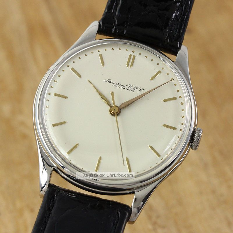 Iwc Schaffhausen Herrenuhr Portofino Handaufzug Stahl Cal 89 Vintage Armbanduhren Bild