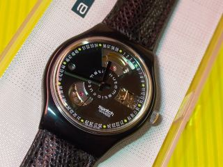 Automatic Swatch Black Motion In & Ovp - Sab100 Bild